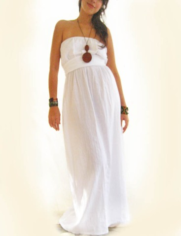 Mexican white cotton dress